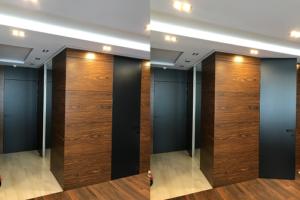 Крашеные двери скрытого монтажа до потолка Pride door