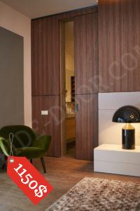 Сдвижная межкомнатная дверь PRIDE шпон + зеркало