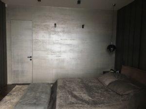 Двери без наличников грунтованные с покрытием декоративной штукатуркой