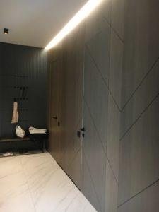 Двери без наличников прайд стеновые панели шпон вешалка мдф