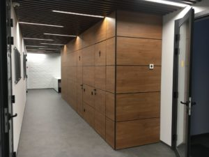 Панели стен ДСП орех и двери скрытого монтажа Прайд