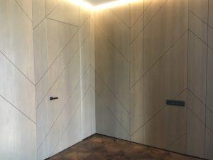 Шпонированные Стенные панели с расшивкой скрытые двери Прайд