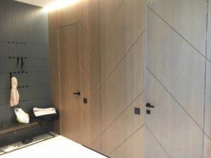 стенные панели прихожей двери без наличников алюминиевый каркас шпон дуб серый